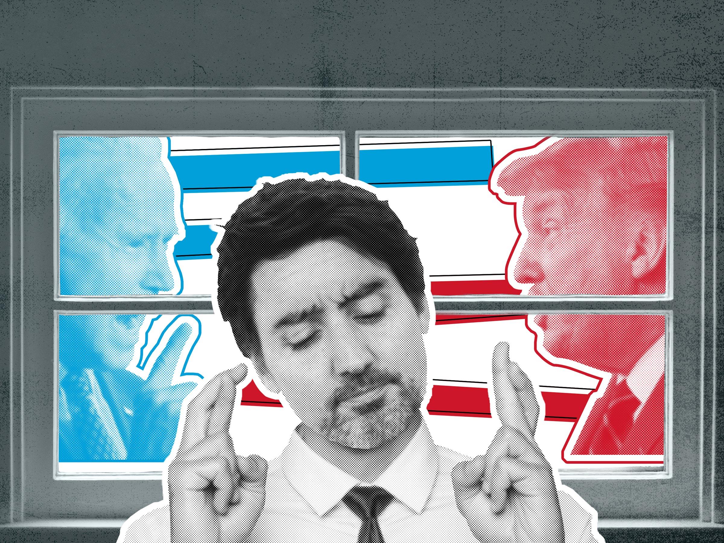 election collage - Trump, Bidden and Trudea